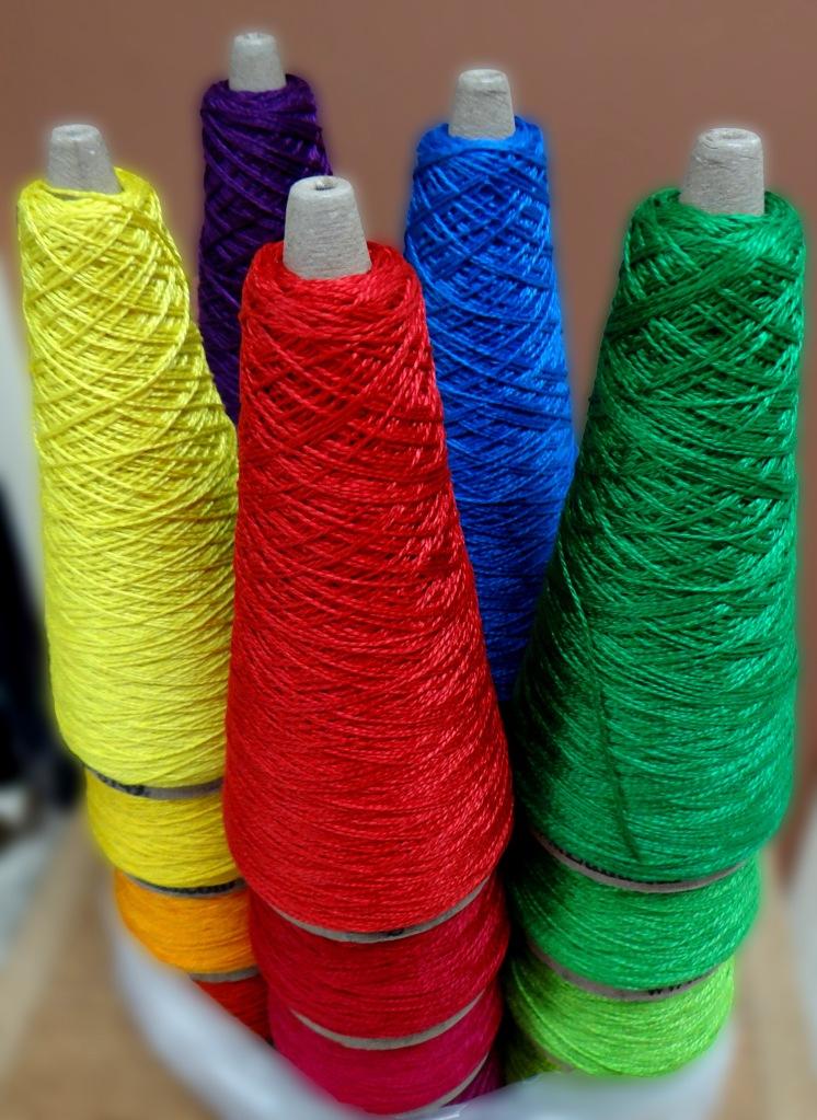 5/2 cotton for weaving - gradient spectrum colors